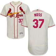 Wholesale Cheap Cardinals #37 Brandon Moss Cream Flexbase Authentic Collection Stitched MLB Jersey
