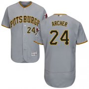 Wholesale Cheap Pirates #24 Chris Archer Grey Flexbase Authentic Collection Stitched MLB Jersey