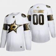 Wholesale Cheap Dallas Stars Custom Men's Adidas White Golden Edition Limited Stitched NHL Jersey