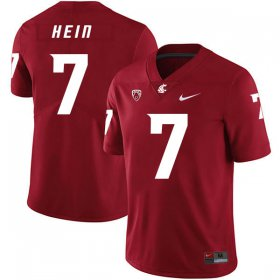 Wholesale Cheap Washington State Cougars 7 Mel Hein Red College Football Jersey