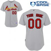 Wholesale Cheap Cardinals Customized Authentic Grey Cool Base MLB Jersey (S-3XL)