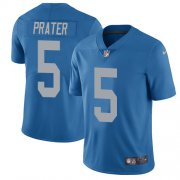 Wholesale Cheap Nike Lions #5 Matt Prater Blue Throwback Youth Stitched NFL Vapor Untouchable Limited Jersey