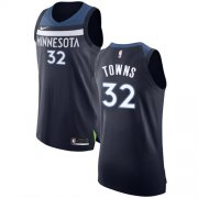 Wholesale Cheap Nike Minnesota Timberwolves #32 Karl-Anthony Towns Navy Blue NBA Authentic Icon Edition Jersey