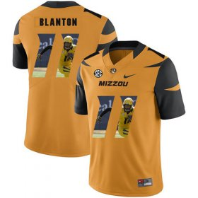 Wholesale Cheap Missouri Tigers 11 Kendall Blanton Gold Nike Fashion College Football Jersey