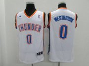 Cheap Youth Oklahoma City Thunder #0 Russell Westbrook White Jersey