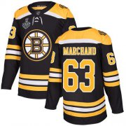 Wholesale Cheap Adidas Bruins #63 Brad Marchand Black Home Authentic Stanley Cup Final Bound Stitched NHL Jersey
