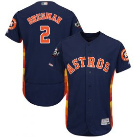 Wholesale Cheap Astros #2 Alex Bregman Navy Blue Flexbase Authentic Collection 2019 World Series Bound Stitched MLB Jersey