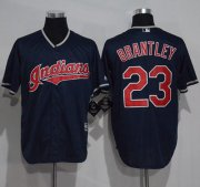 Wholesale Cheap Indians #23 Michael Brantley Navy Blue New Cool Base Stitched MLB Jersey