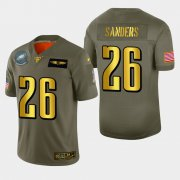 Wholesale Cheap Philadelphia Eagles #26 Miles Sanders Men's Nike Olive Gold 2019 Salute to Service Limited NFL 100 Jersey