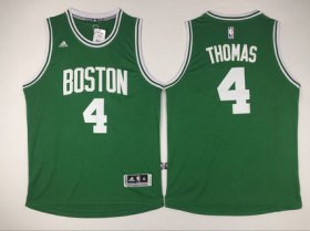 Wholesale Cheap Men\'s Boston Celtics #4 Isaiah Thomas Revolution 30 Swingman New Green Jersey