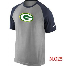 Wholesale Cheap Nike Green Bay Packers Ash Tri Big Play Raglan NFL T-Shirt Grey/Navy Blue