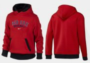 Wholesale Cheap Boston Red Sox Pullover Hoodie Red & Black