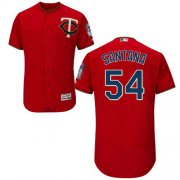 Wholesale Cheap Twins #54 Ervin Santana Red Flexbase Authentic Collection Stitched MLB Jersey