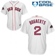 Wholesale Cheap Red Sox #2 Xander Bogaerts White Cool Base 2018 World Series Champions Stitched Youth MLB Jersey