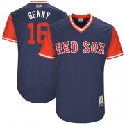 "Wholesale Cheap Red Sox #16 Andrew Benintendi Navy ""Benny"" Players Weekend Authentic Stitched MLB Jersey"