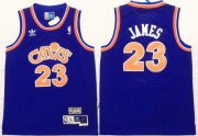 Cheap Youth Cleveland Cavaliers #23 LeBron James CavFanatic Blue Hardwood Classics Soul Swingman Throwback Jersey