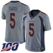 Wholesale Cheap Nike Broncos #5 Joe Flacco Gray Men's Stitched NFL Limited Inverted Legend 100th Season Jersey