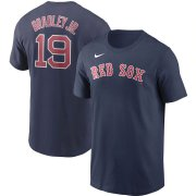 Wholesale Cheap Boston Red Sox #19 Jackie Bradley Jr. Nike Name & Number T-Shirt Navy