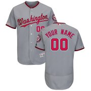 Wholesale Cheap Washington Nationals Majestic Road Flex Base Authentic Collection Custom Jersey Gray