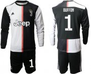 Wholesale Cheap Juventus #1 Buffon Home Long Sleeves Soccer Club Jersey