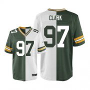 Wholesale Cheap Nike Packers #97 Kenny Clark Green/White Men's Stitched NFL Elite Split Jersey