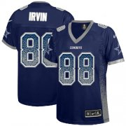 Wholesale Cheap Nike Cowboys #88 Michael Irvin Navy Blue Team Color Women's Stitched NFL Elite Drift Fashion Jersey