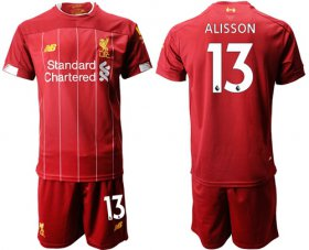 Wholesale Cheap Liverpool #13 Alisson Red Home Soccer Club Jersey