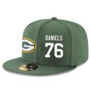 Wholesale Cheap Green Bay Packers #76 Mike Daniels Snapback Cap NFL Player Green with White Number Stitched Hat