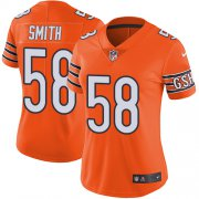 Wholesale Cheap Nike Bears #58 Roquan Smith Orange Women's Stitched NFL Limited Rush Jersey