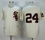 Wholesale Cheap Mitchell And Ness 1959 White Sox #24 Early Wynn Cream Stitched MLB Jersey