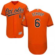 Wholesale Cheap Orioles #6 Jonathan Schoop Orange Flexbase Authentic Collection Stitched MLB Jersey
