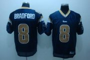 Wholesale Cheap Rams #8 Draft Player Sam Bradford Stitched Blue NFL Jersey