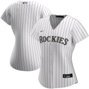 Wholesale Cheap Colorado Rockies Nike Women's Home 2020 MLB Team Jersey White