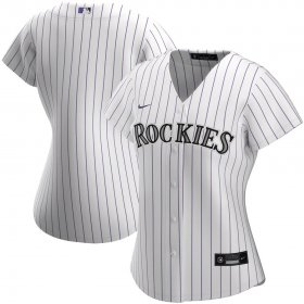 Wholesale Cheap Colorado Rockies Nike Women\'s Home 2020 MLB Team Jersey White