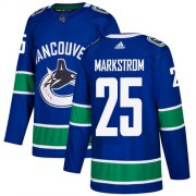 Wholesale Cheap Adidas Canucks #25 Jacob Markstrom Blue Home Authentic Youth Stitched NHL Jersey