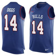 Wholesale Cheap Nike Bills #14 Stefon Diggs Royal Blue Team Color Men's Stitched NFL Limited Tank Top Jersey