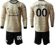 Wholesale Cheap Manchester United Personalized Away Long Sleeves Soccer Club Jersey