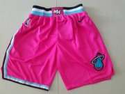 Wholesale Cheap Men Nike Miami Heat Pink NBA Swingman City Edition Shorts