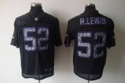 Wholesale Cheap Sideline Black United Ravens #52 Ray Lewis Black Stitched NFL Jersey