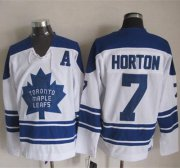 Wholesale Cheap Maple Leafs #7 Tim Horton White CCM Throwback Third Stitched NHL Jersey