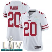 Wholesale Cheap Nike 49ers #20 Jimmie Ward White Super Bowl LIV 2020 Youth Stitched NFL Vapor Untouchable Limited Jersey