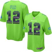 Wholesale Cheap Nike Seahawks #12 Fan Green Alternate Men's Stitched NFL Limited Strobe Jersey