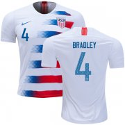 Wholesale Cheap USA #4 Bradley Home Kid Soccer Country Jersey