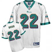 Wholesale Cheap Dolphins #22 Reggie Bush White Stitched NFL Jersey