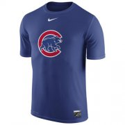 Wholesale Cheap Chicago Cubs Nike Authentic Collection Legend Logo 1.5 Performance T-Shirt Royal