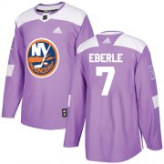 Wholesale Cheap Adidas Islanders #7 Jordan Eberle Purple Authentic Fights Cancer Stitched NHL Jersey