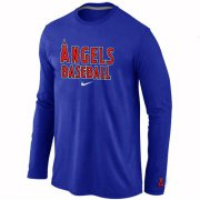Wholesale Cheap Los Angeles Angels Long Sleeve MLB T-Shirt Dark Blue