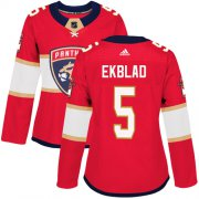 Wholesale Cheap Adidas Panthers #5 Aaron Ekblad Red Home Authentic Women's Stitched NHL Jersey