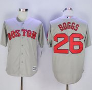 Wholesale Cheap Red Sox #26 Wade Boggs New Grey Cool Base Stitched MLB Jersey