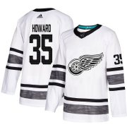 Wholesale Cheap Adidas Red Wings #35 Jimmy Howard White Authentic 2019 All-Star Stitched Youth NHL Jersey